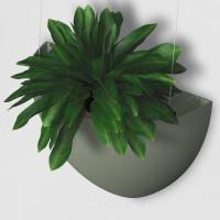 Підвісний квітковий горщик  BOTANIQ зелений
