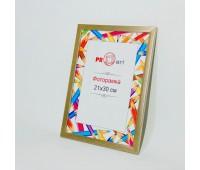 Фоторамка А4 пластикова 21х30 золота 0169