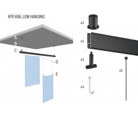 Комплект для підвісу  плакатів Xpo Rail Comfort