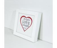 Фоторамка  дерев'яна Love 11х11 біла