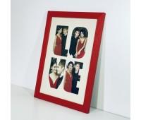 Фоторамка А4 дерев'яна Love 21х30 червона