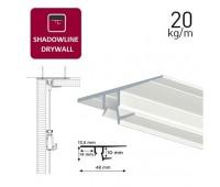 Shadowline Drywall профіль білий 250 см для гіпсокартону